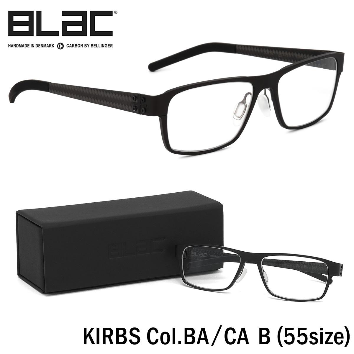 【10月30日からエントリーで全品ポイント20倍】ブラック BLaC メガネKIRBS BA/CA B 55サイズKIRBS カーボンファイバー CARBON FIBER ハイブリッド ALU アル アルミニウムブラック BLaC メンズ レディース