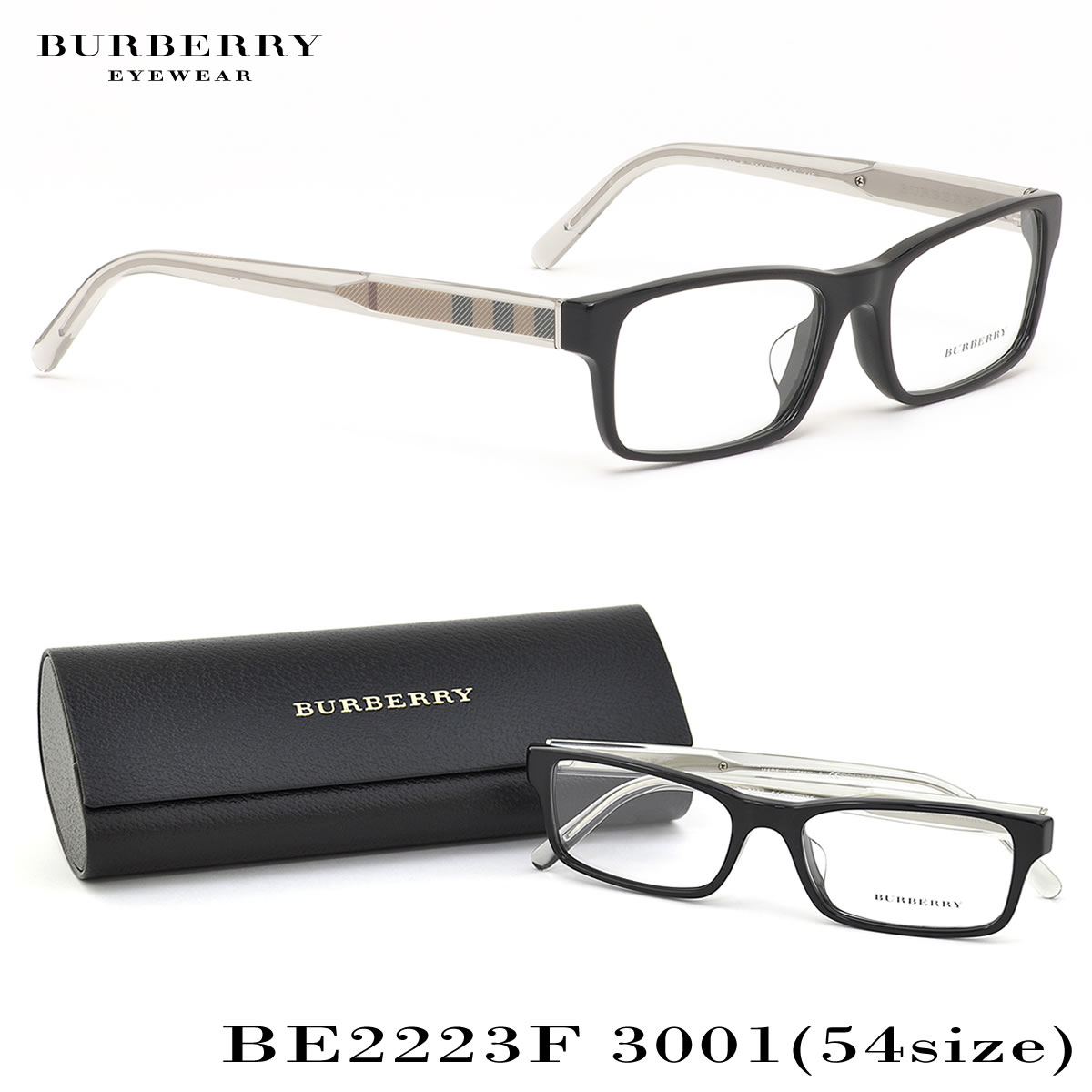 62f5698facd (BURBERRY) Glasses BE2223F 3001 54 size Burberry check square horse  mackerel Ann fitting Burberry BURBERRY men gap Dis BURBERRY men gap Dis