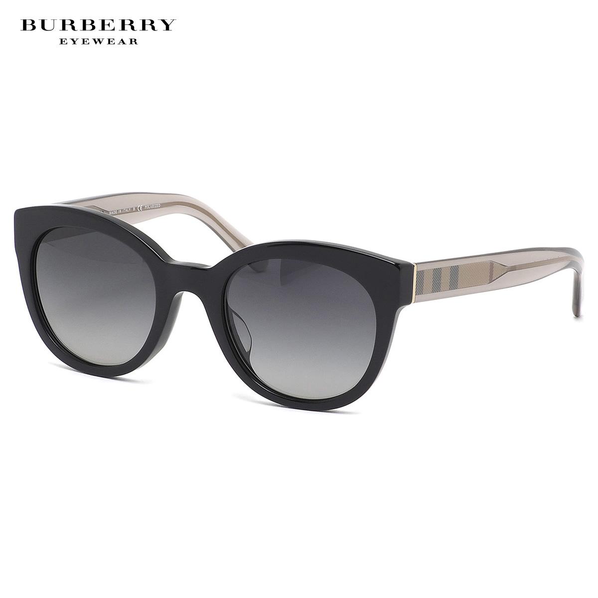 バーバリー BURBERRY サングラス BE4210F 3001T3 52サイズ ACOUSTIC キャッツアイ ウェリントン アジアンフィット 偏光レンズ バーバリーチェック BURBERRY メンズ レディース