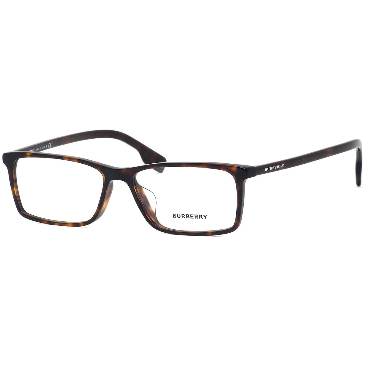 バーバリー BURBERRY メガネ BE2286D 3002 55サイズ スクエア MADE IN ITALY ハバナ トータス デミ べっ甲 シャープ かっこいい ビジネス おしゃれ メンズ レディース