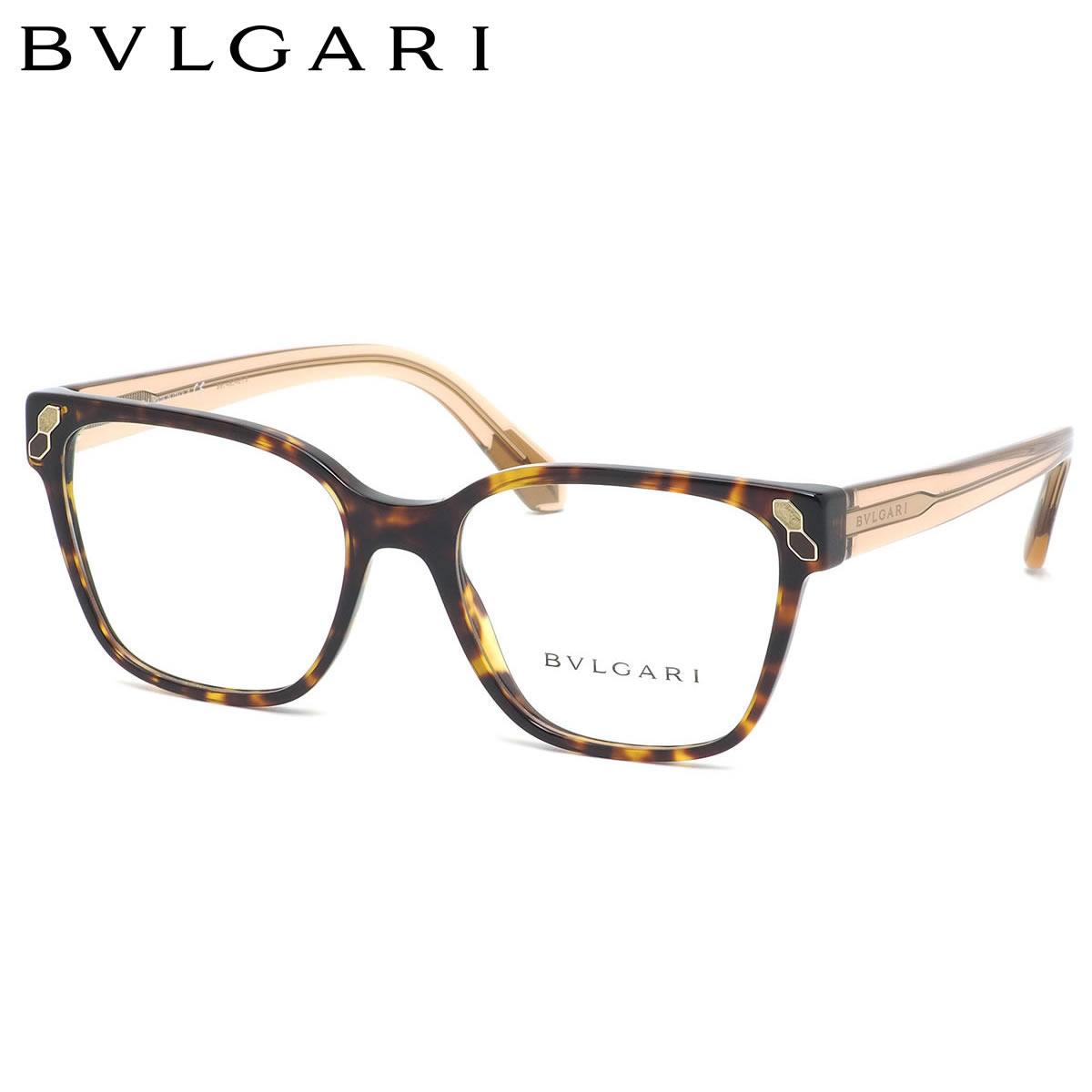 【10月30日からエントリーで全品ポイント20倍】ブルガリ BVLGARI メガネBV4163 504 52サイズSERPENTI セルペンティ メンズ レディース