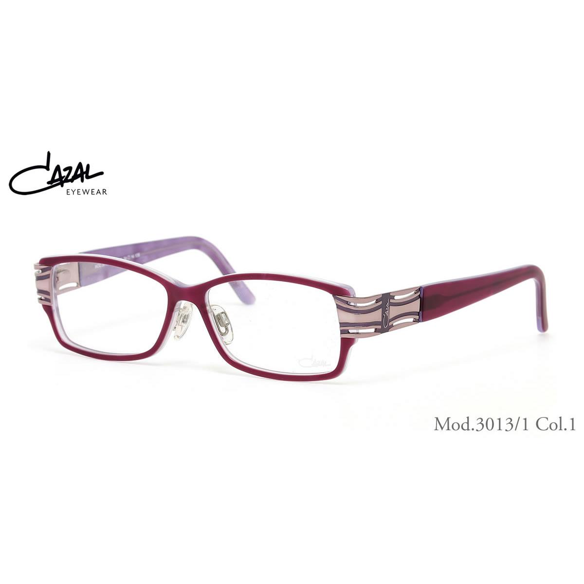 CAZAL カザール メガネ 3013/1 001 54サイズ CAZAL 伊達メガネレンズ無料 メンズ レディース