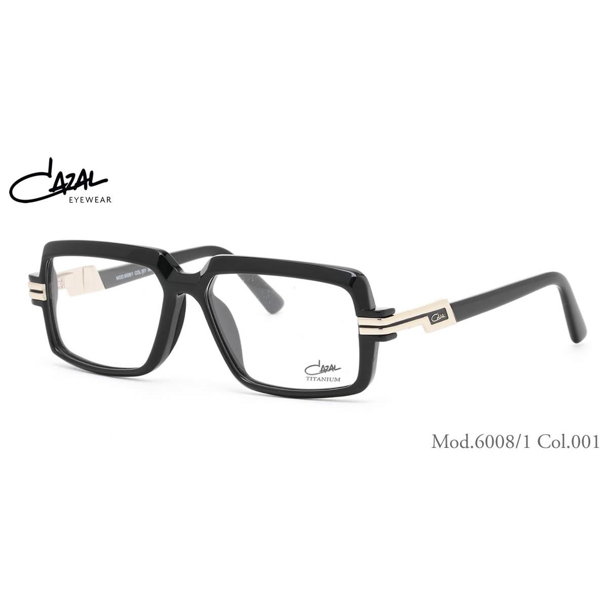 CAZAL カザール メガネ 6008/1 001 56サイズ CAZAL 伊達メガネレンズ無料 メンズ レディース