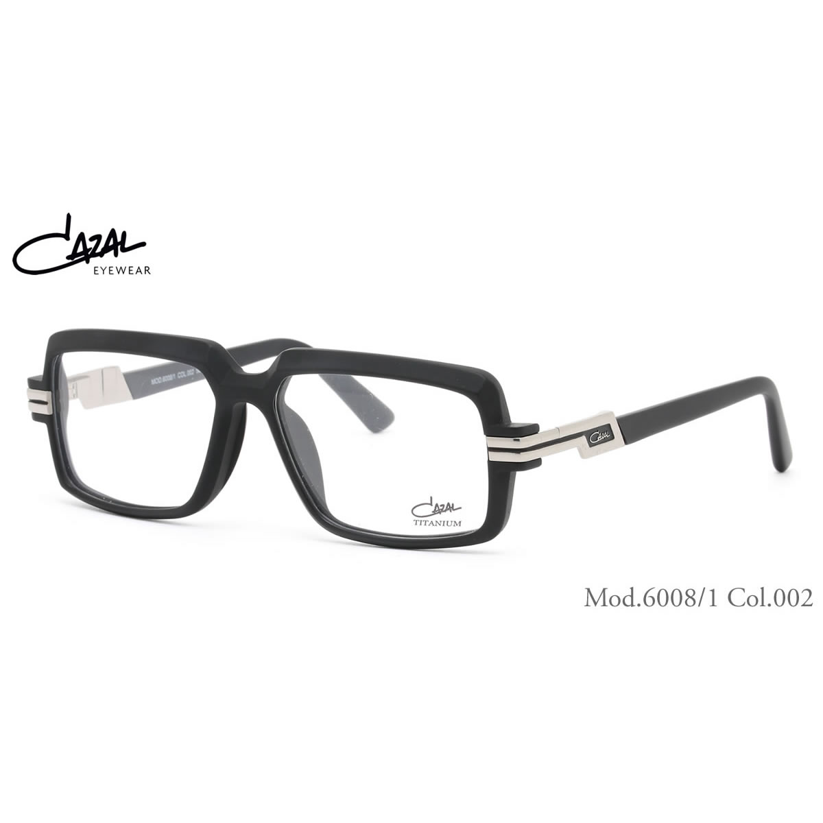 CAZAL カザール メガネ 6008/1 002 56サイズ CAZAL 伊達メガネレンズ無料 メンズ レディース