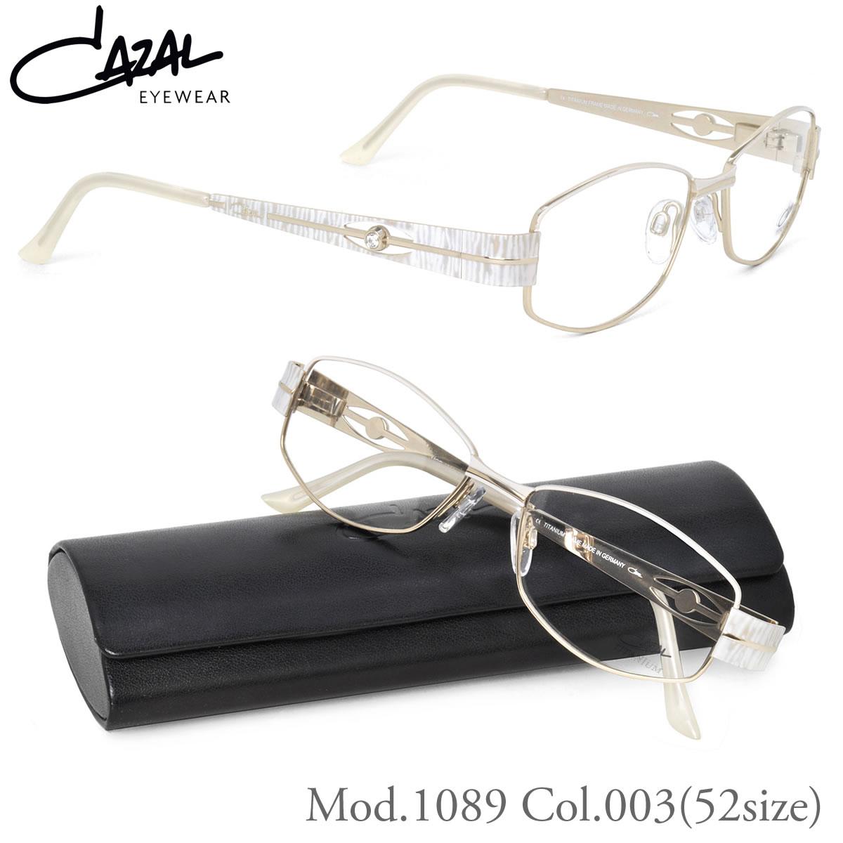 【10月30日からエントリーで全品ポイント20倍】カザール メガネ 1089 003 52サイズCAZAL レディース フレーム 眼鏡伊達メガネ用レンズ無料