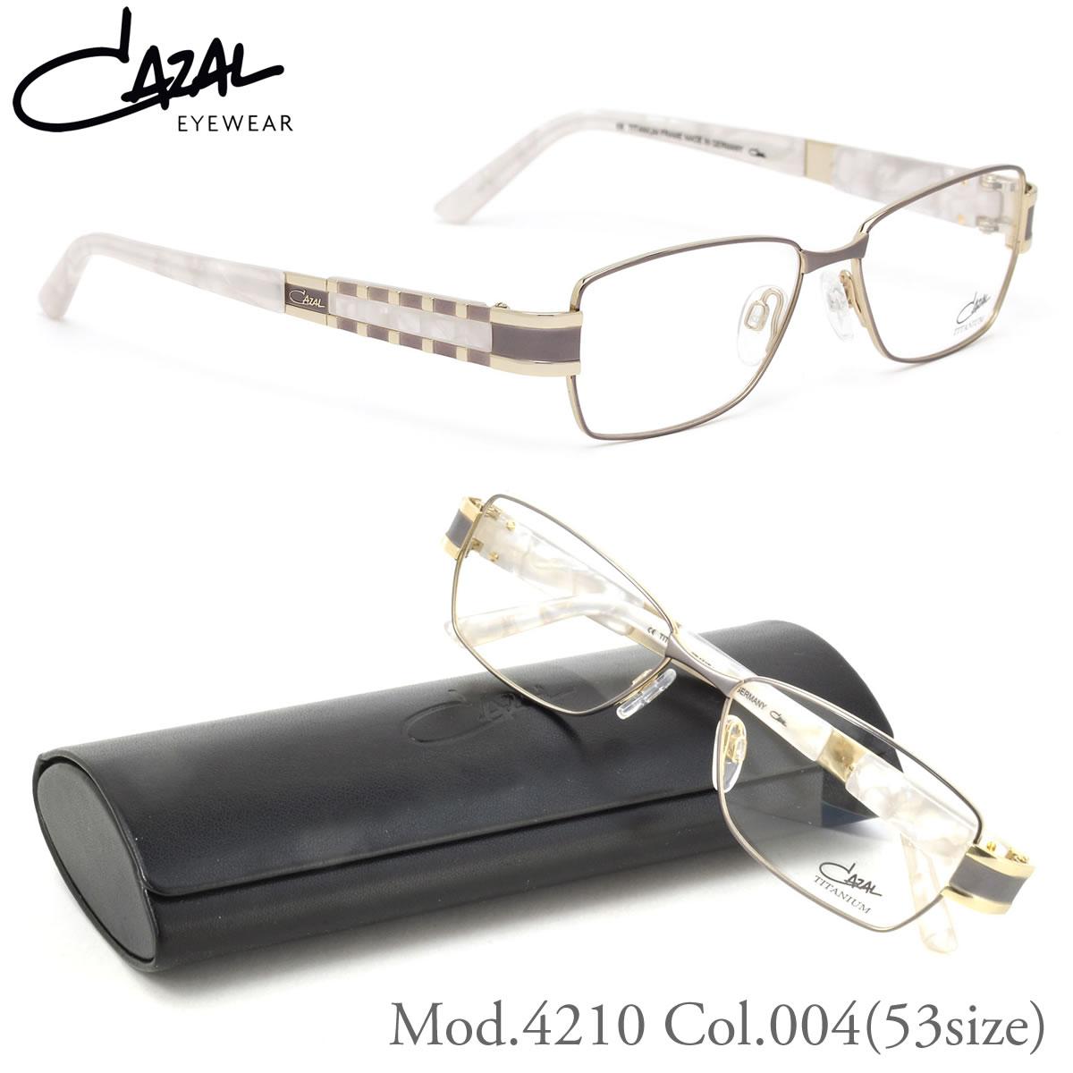 【10月30日からエントリーで全品ポイント20倍】【CAZAL】(カザール) メガネ フレーム 4210 004 53サイズ スクエア チタン カザール CAZAL メンズ レディース