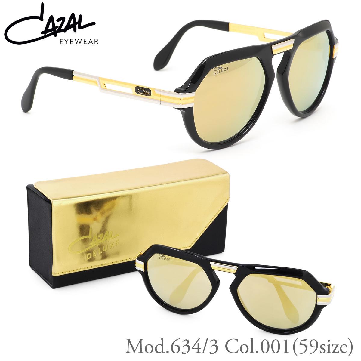 634 / 3 CAZAL 太阳镜 001 59 大小传说传说豪华豪华规格有限限量版眼泪滴镜子镜头 24 K 名人 CAZAL 男人女人