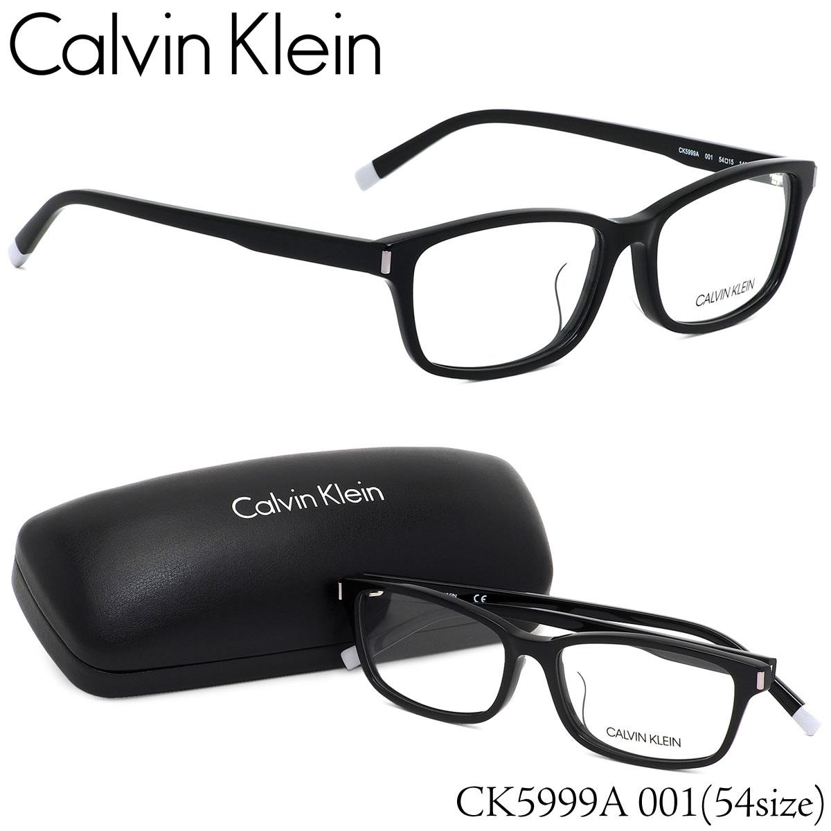 ほぼ全品ポイント15倍~最大43倍+3倍!お得なクーポンも! カルバンクライン Calvin Klein メガネCK5999A 001 54サイズck ウエリントン ブラックカルバンクライン CalvinKlein メンズ レディース