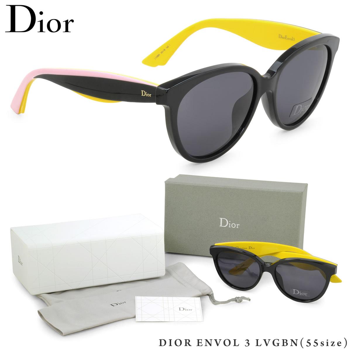 【10月30日からエントリーで全品ポイント20倍】【Dior】(ディオール) サングラス DIOR ENVOL 3 LVGBN 55サイズ バタフライ オンボル ディオール Dior レディース