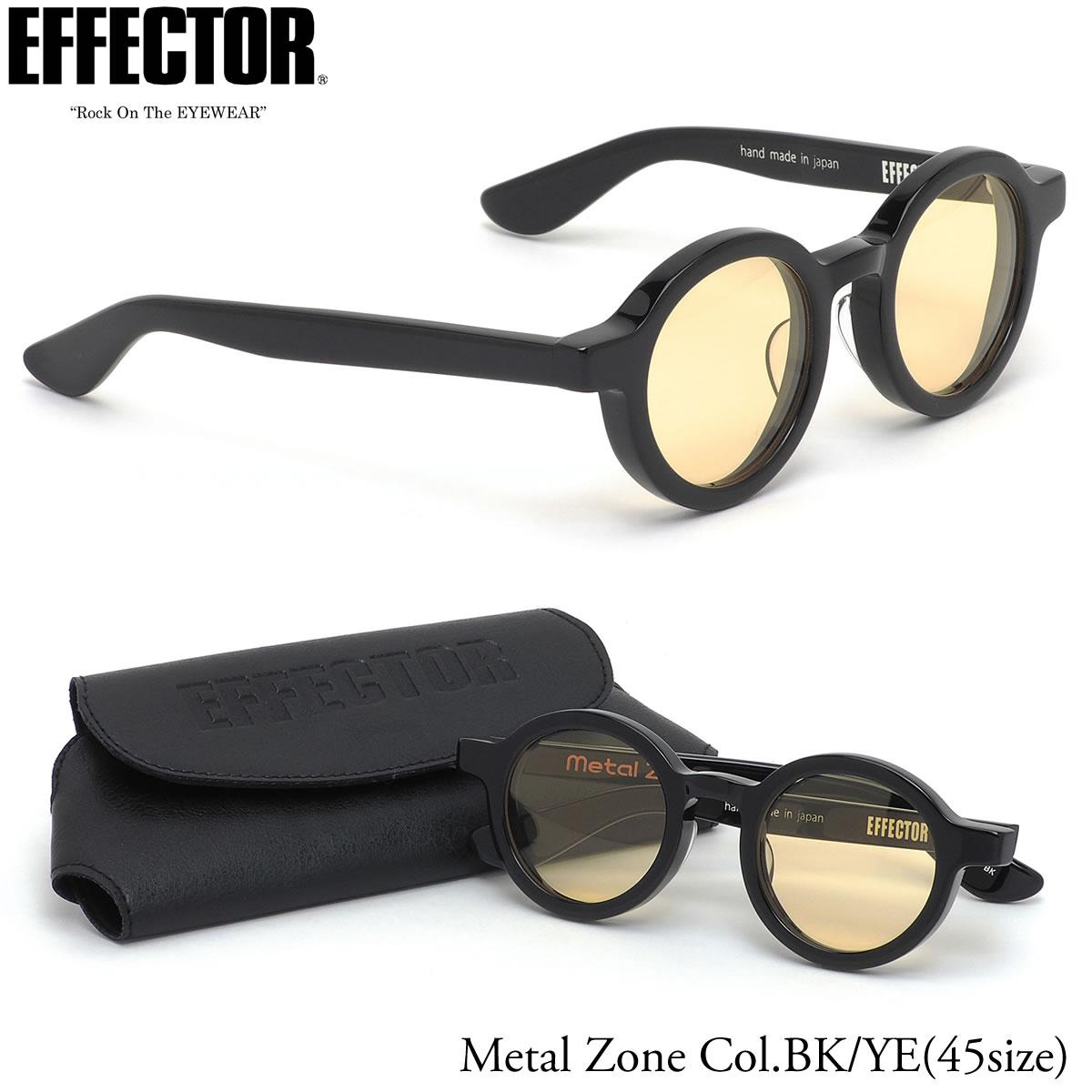 エフェクター EFFECTOR サングラス METAL ZONE BK/YE 45サイズ メタルゾーン BOSS ボス コラボ 日本製 EFFECTOR メンズ レディース