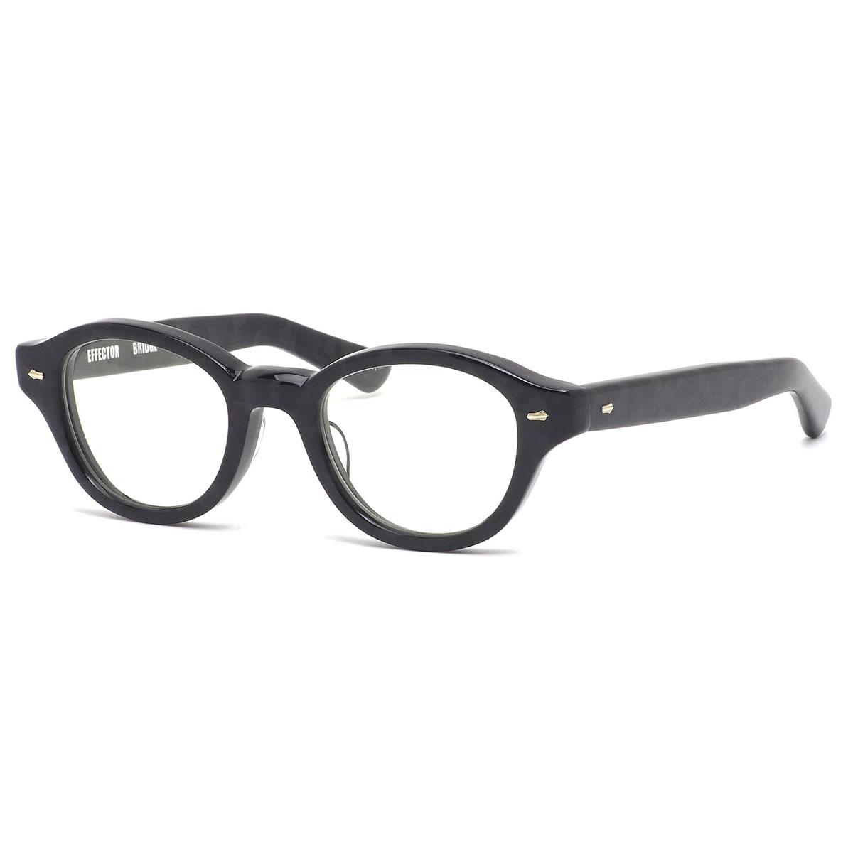 エフェクター EFFECTOR メガネ 伊達メガネセット BRIDGE BKCA 49サイズ ブリッジ ウェリントン ボストン ボスリントン 黒 カモフラージュ 迷彩 日本製 鯖江 MADE IN JAPAN かっこいい 近視 乱視 遠視 老眼 メンズ レディース