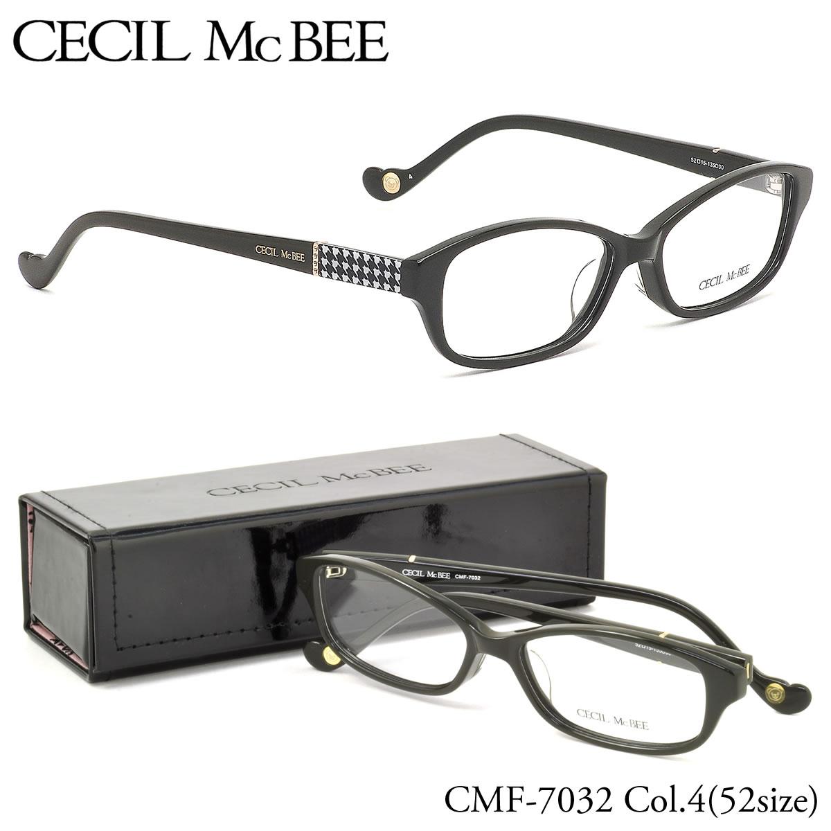 ポイント最大42倍!!お得なクーポンも !! 【セシルマクビー】 (CECIL McBEE) メガネCMF7032 4 52サイズスクエア 伊達メガネ 度付き 度数付きCECILMcBEE レディース