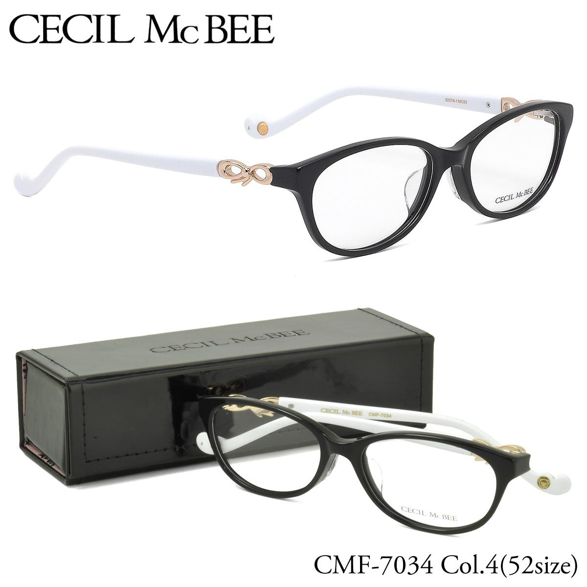 ポイント最大42倍!!お得なクーポンも !! 【セシルマクビー】 (CECIL McBEE) メガネCMF7034 4 52サイズスクエア 伊達メガネ 度付き 度数付きCECILMcBEE レディース