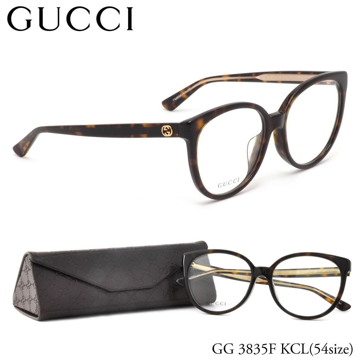 (GUCCI) 眼镜 GG3835F 氯化钾 54 大小亚洲适合猫猫眼古奇 ITA 镜片镜头免费男人女人