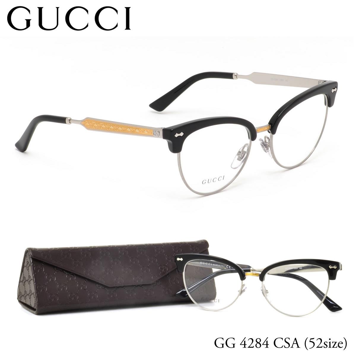 ほぼ全品ポイント15倍~最大43倍+3倍!お得なクーポンも! 【グッチ】 (GUCCI) メガネGG4284 CSA 52サイズ フォックス GUCCI 伊達メガネレンズ無料 メンズ レディース