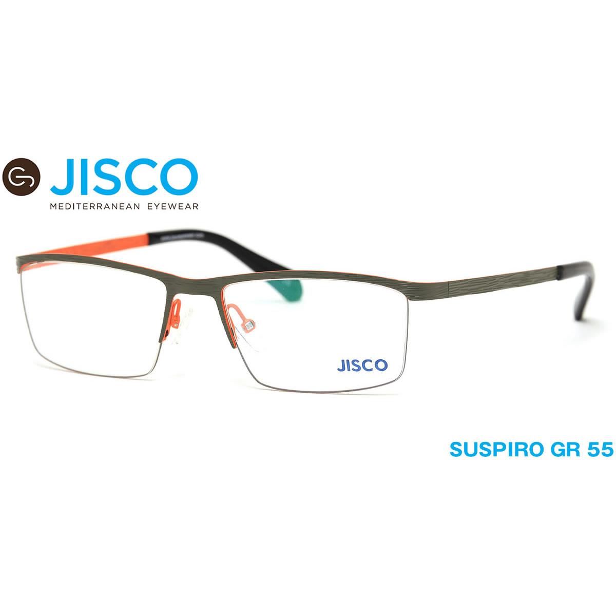 【10月30日からエントリーで全品ポイント20倍】【14時までのご注文は即日発送】SUSPIRO GR 55サイズ JISCO (ジスコ) メガネ メンズ レディース 【伊達メガネ用レンズ無料!!】【あす楽対応】【LOS40】