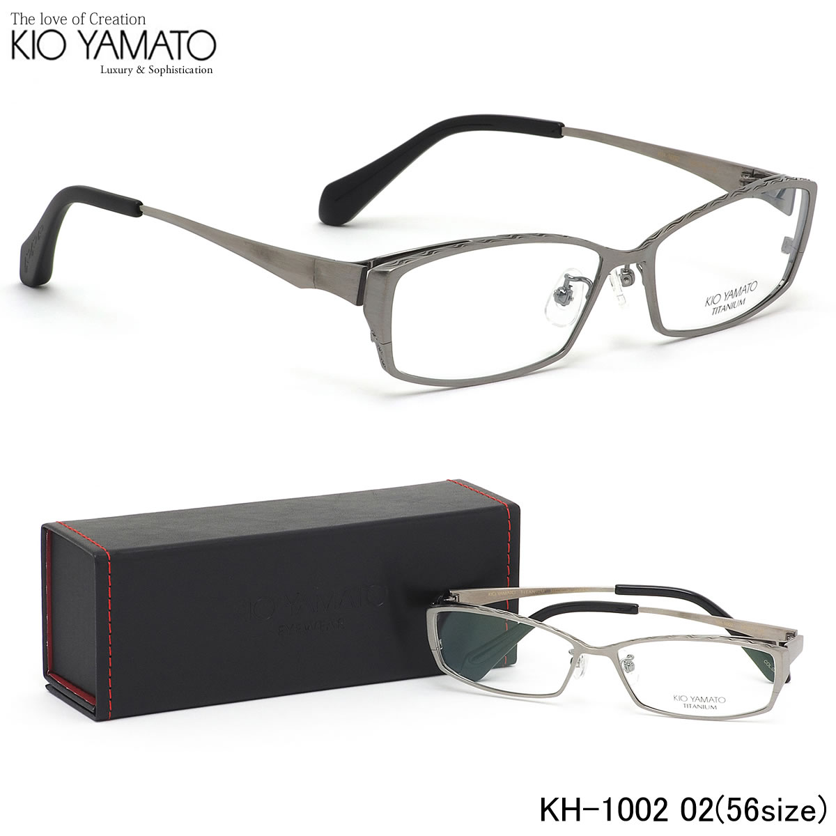 【10月30日からエントリーで全品ポイント20倍】キオヤマト KIO YAMATO メガネKH-1002 02 56サイズ日本製 チタン レーザー 彫刻キオヤマト KIOYAMATO メンズ レディース