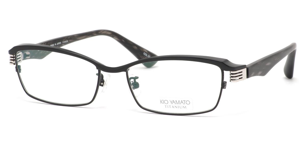 (KIO YAMATO)眼鏡KT443J 01 55尺寸KT-443J空氣記錄騎手鈦日本製造眼鏡廣場KIOYAMATO人分歧D