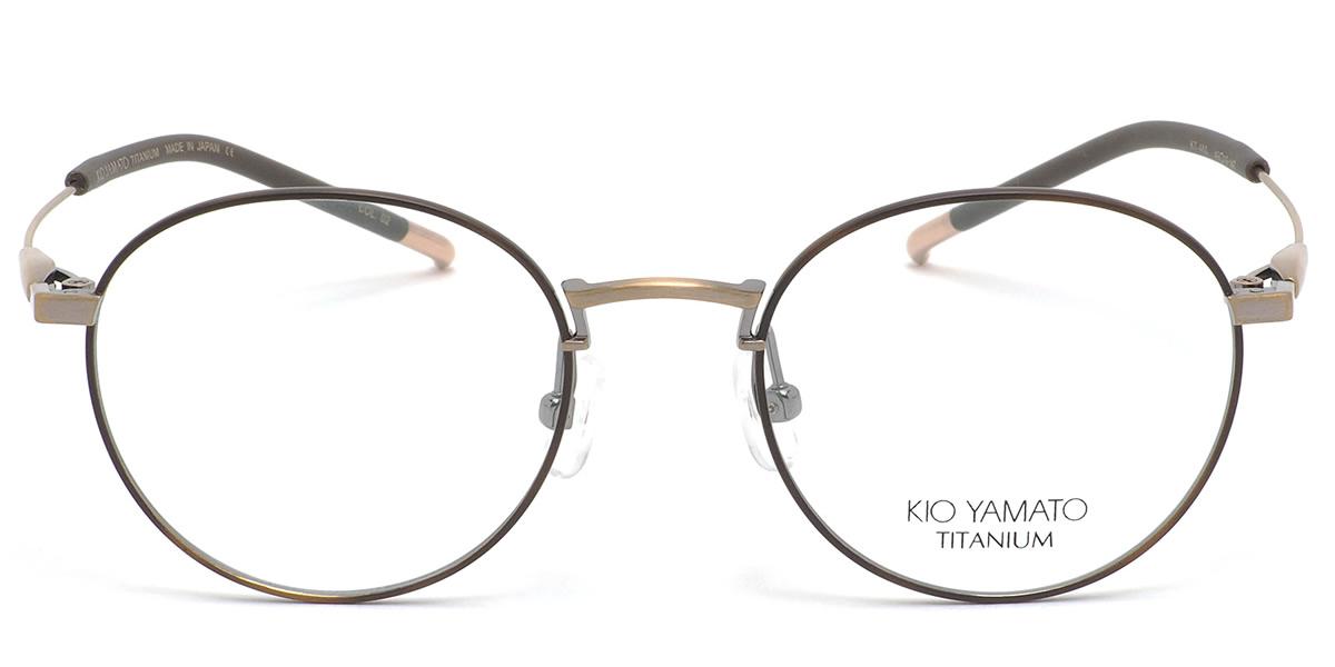 (KIO YAMATO) メガネKT-460 02 49サイズOLIVIER チタン 日本製 眼鏡 ボストン 丸メガネKIOYAMATO メンズ レディース