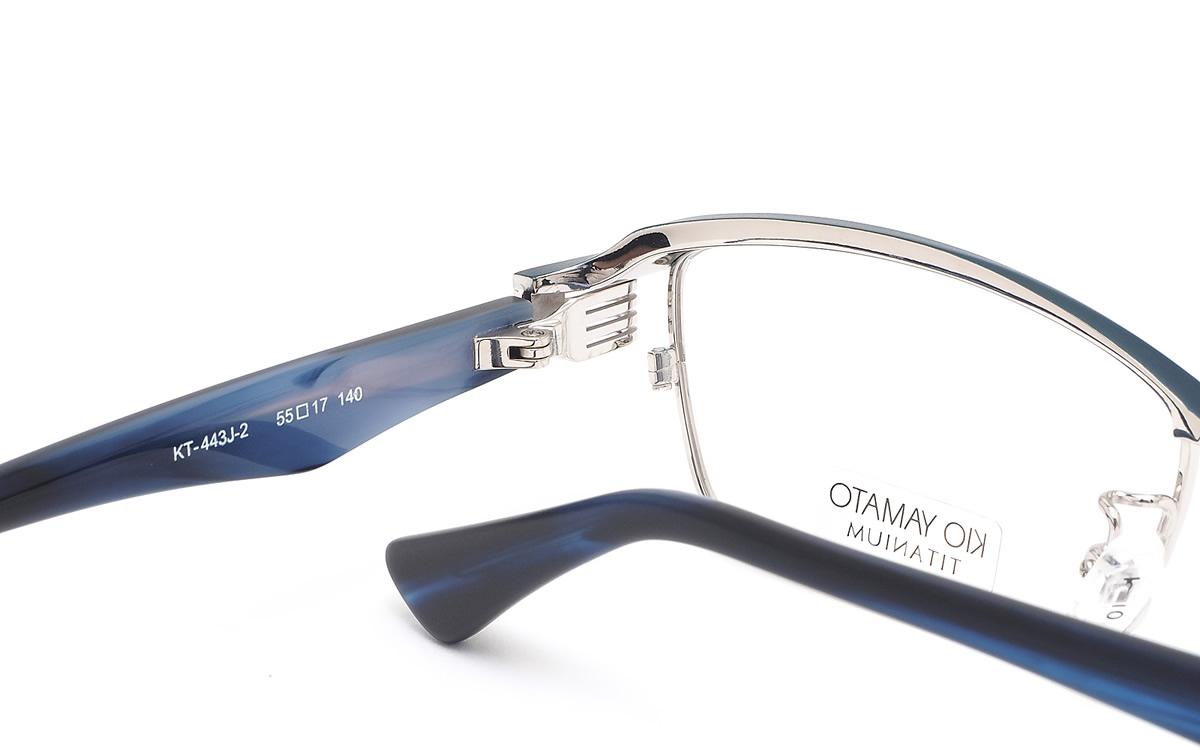 52f42dd2ca ... (KIO YAMATO) glasses KT443J2 03 55 size Aero glider titanium Japan-made  glasses ...