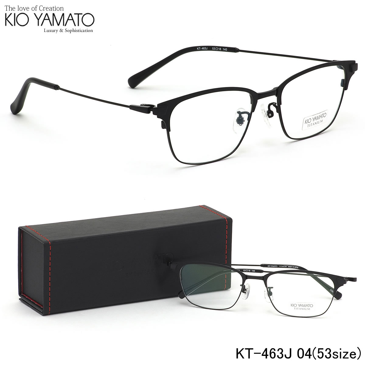 【10月30日からエントリーで全品ポイント20倍】キオヤマト KIO YAMATO メガネKT-463J 04 53サイズ日本製 Classic Collection キオヤマト KIOYAMATO メンズ レディース