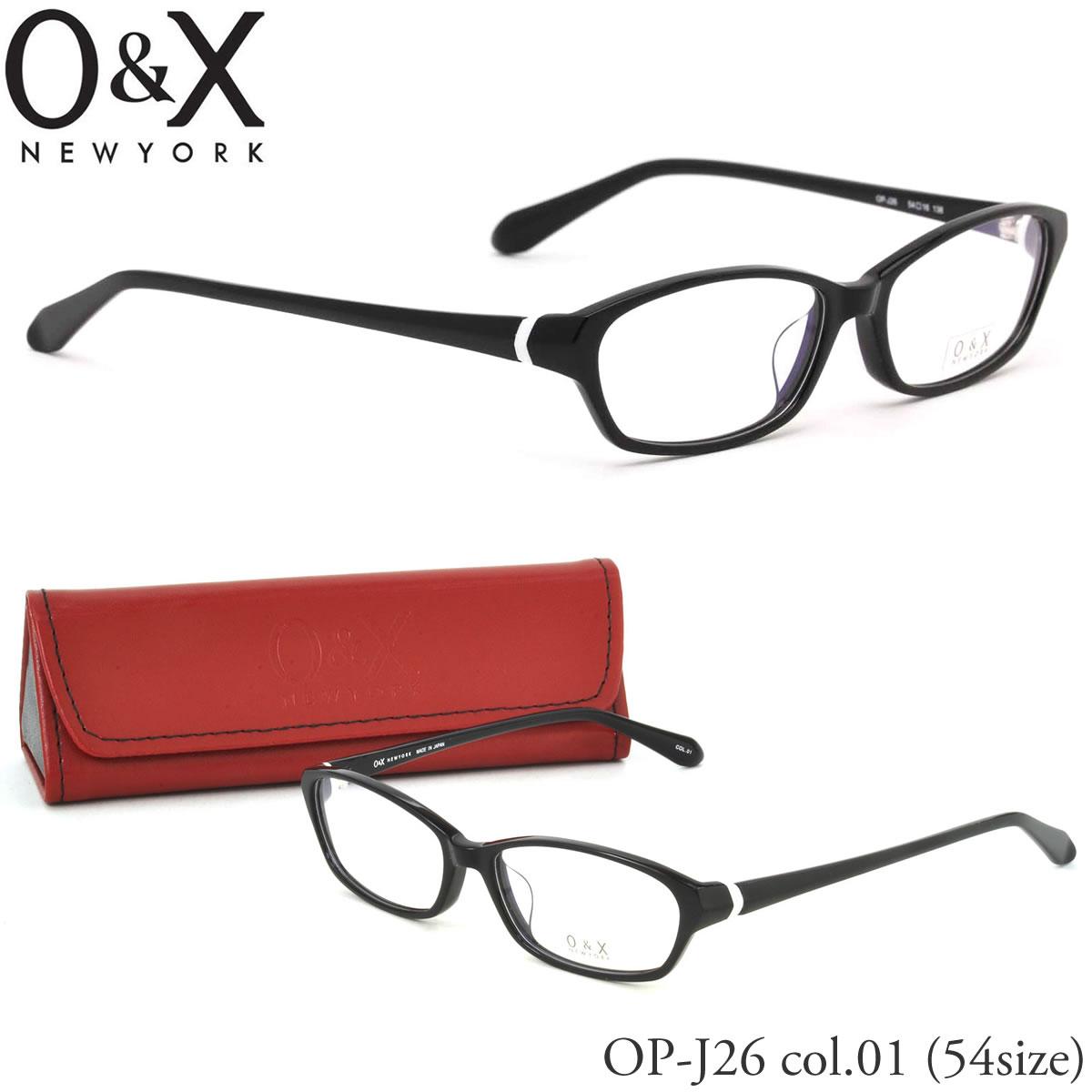 【10月30日からエントリーで全品ポイント20倍】【O&X】(オーアンドエックス) メガネ フレーム OP J26 01 54サイズ スクエア 日本製 オーアンドエックス O&X メンズ レディース