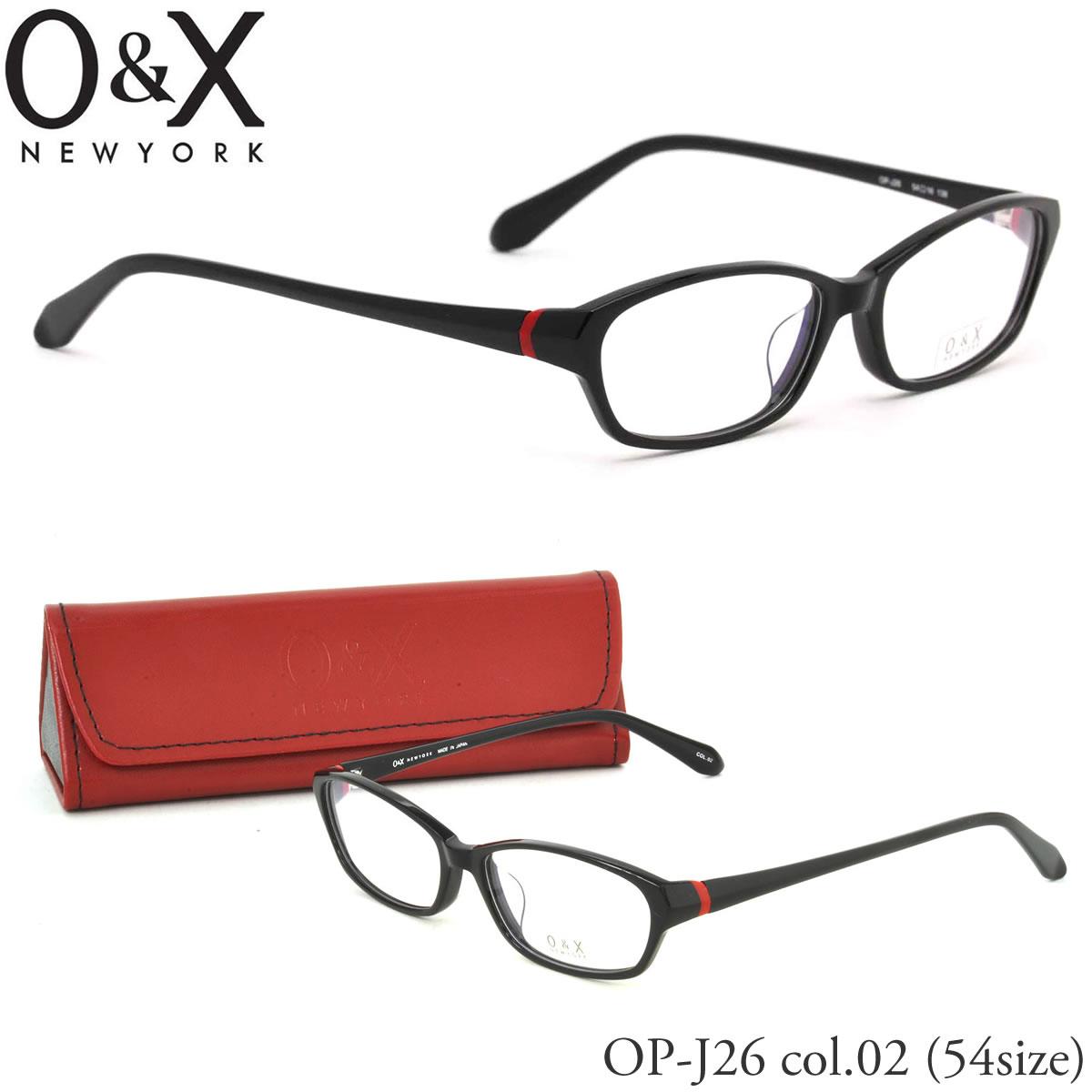 O&X オーアンドエックス メガネ フレーム OP J26 02 54サイズ スクエア 日本製 オーアンドエックス O&X メンズ レディース