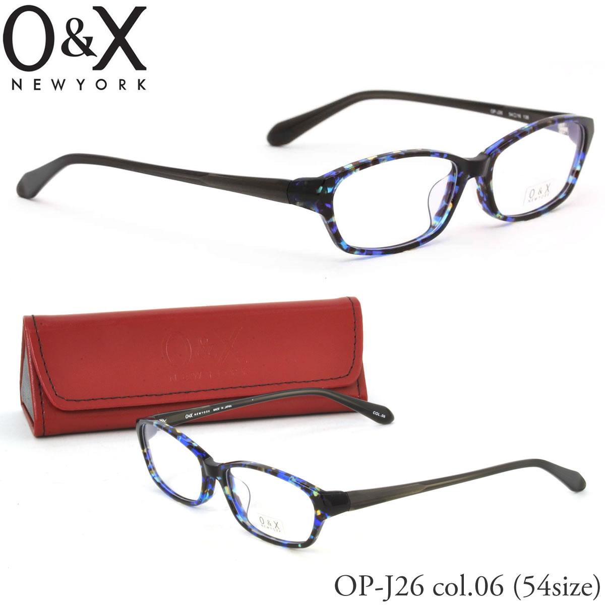 ほぼ全品ポイント15倍~最大34倍+2倍! 【O&X】(オーアンドエックス) メガネ フレーム OP J26 06 54サイズ スクエア 日本製 オーアンドエックス O&X メンズ レディース