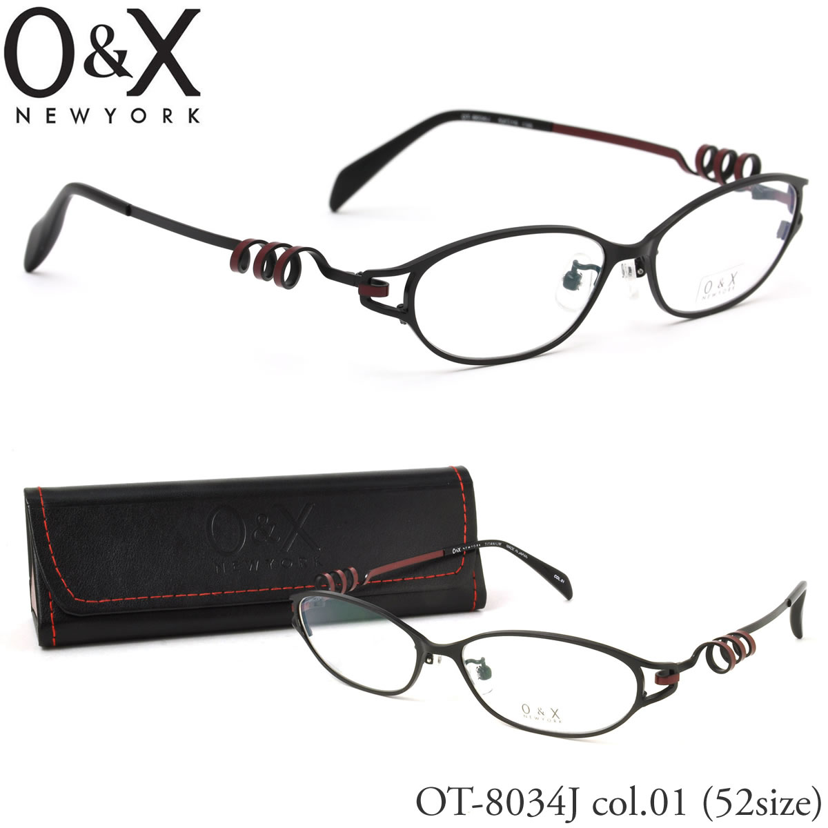 【10月30日からエントリーで全品ポイント20倍】【O&X】(オーアンドエックス) メガネ フレーム OT 8034J 01 52サイズ フォックス βTITANIUM ベータチタン 日本製 シートメタル オーアンドエックス O&X メンズ レディース