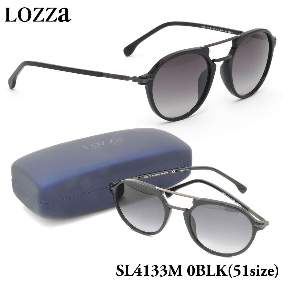 【10月30日からエントリーで全品ポイント20倍】【ロッツァ】 (LOZZA) サングラスSL4133M 0BLK 51サイズCOMO 1 LOZZA メンズ レディース