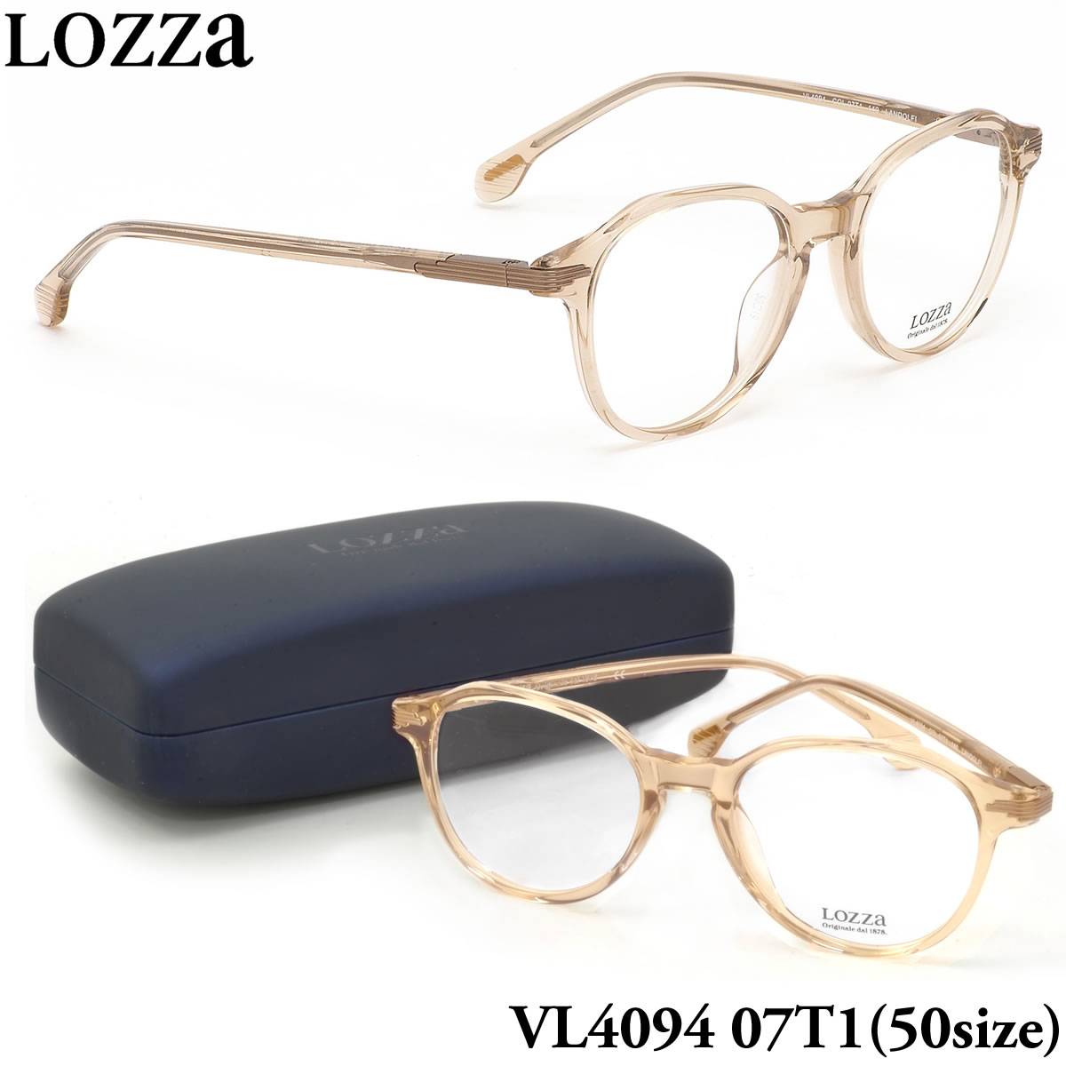 ほぼ全品ポイント15倍~最大43倍+3倍!お得なクーポンも! 【ロッツァ】 (LOZZA) メガネVL4094 07T1 50サイズLANDOLFI LOZZA メンズ レディース