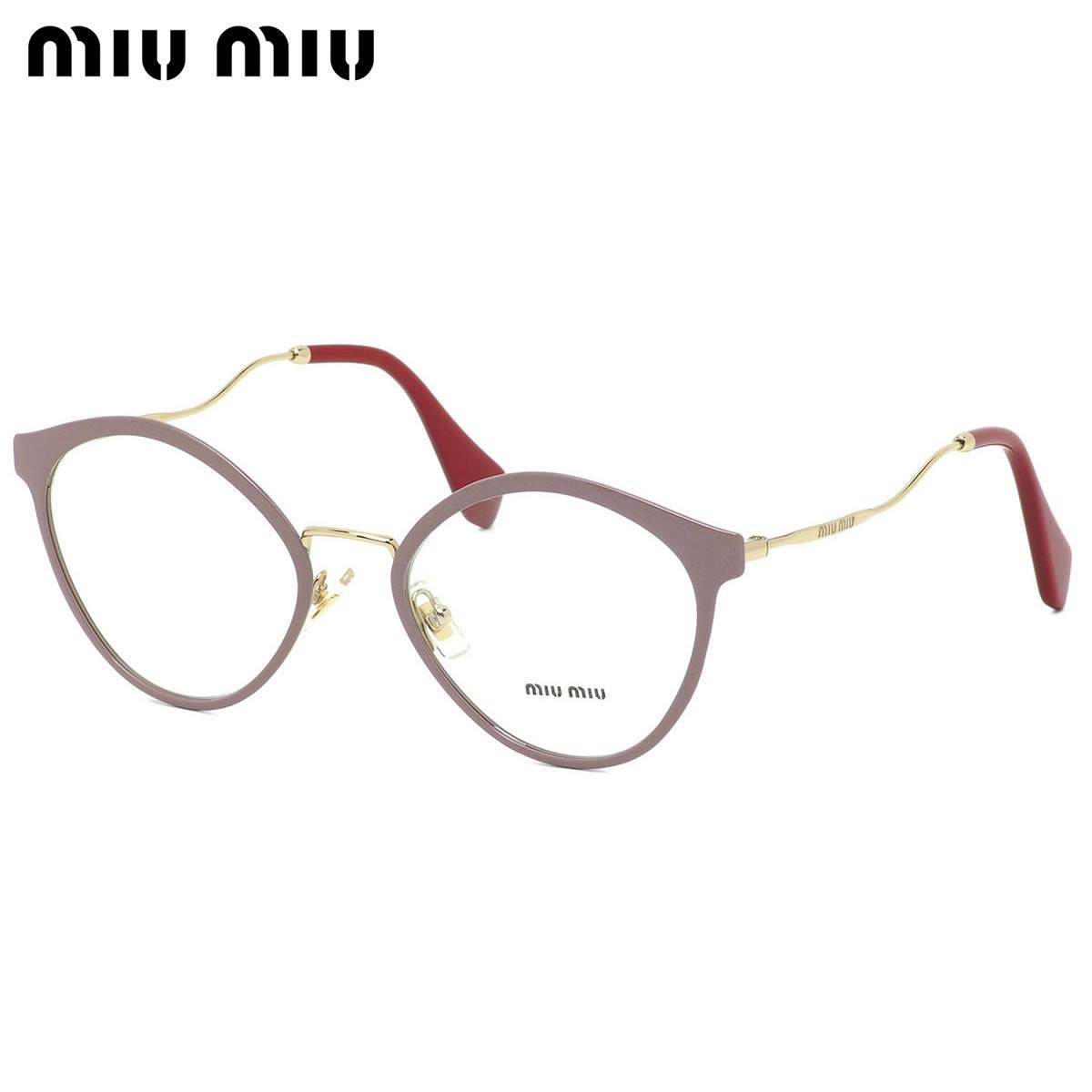 ミュウミュウ MIUMIU メガネ MU52QV 4UD1O1 52サイズ ボストン キャッツアイ レディース 華奢 ミュウミュウ MIUMIU レディース