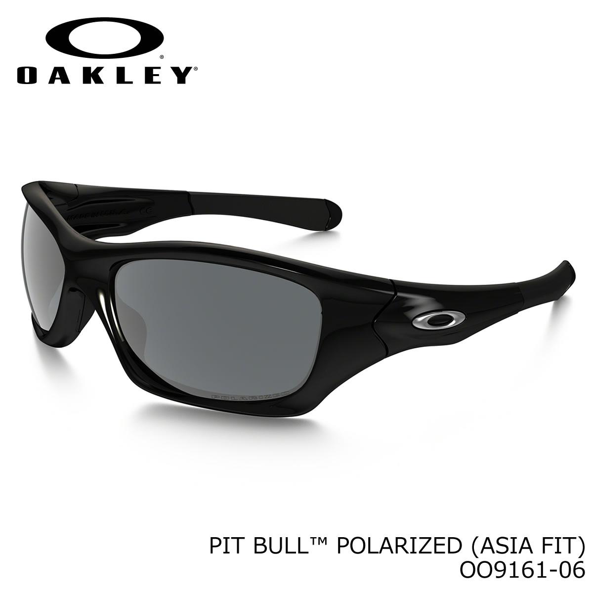 ポイント最大42倍!!お得なクーポンも !! オークリー 偏光サングラス ピットブル OAKLEY OO9161-06 PIT BULL ASIA FIT Polished Black / Black Iridium Polarized オークレー アジアンフィット 偏光レンズ ミラー メンズ レディース