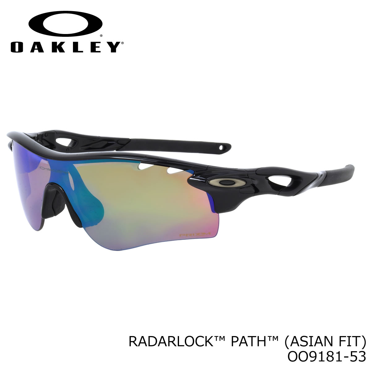 5965239ee35 (Oakley) sunglasses OO9181-53 RADARLOCK PATH Polished Black Prizm Shallow  H2O Polarized Prizm Deep H2O Polarized radar lock pass polarized lens Super  lens ...