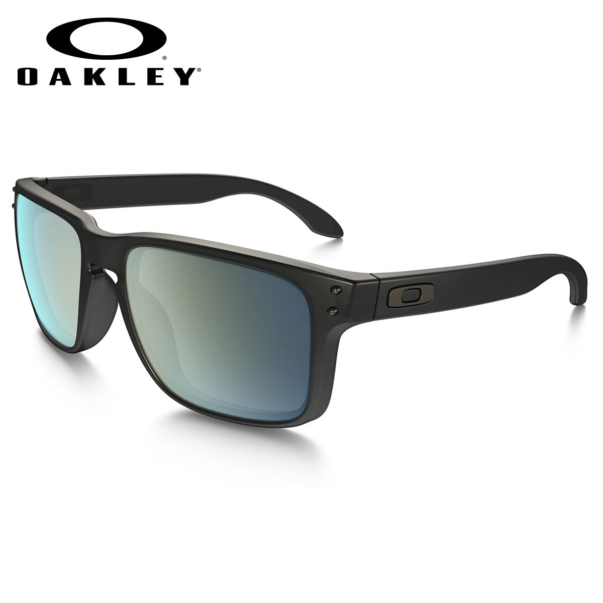 2ddc6bb380 (Oakley) sunglasses OO9244-07 HOLBROOK ASIA FIT Matte Black Ink Emerald  Iridium Holbrook Asian fit sport Oakley OAKLEY men s women s