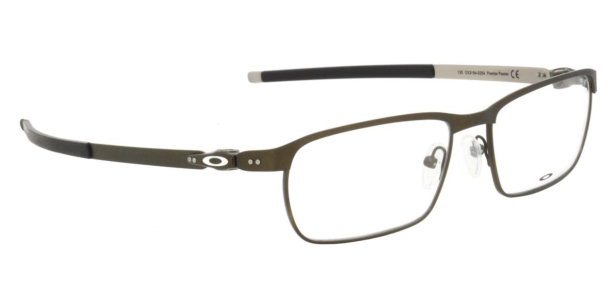 d3c5c6d553 -OAKLEY glasses OX3184-0254 TINCUP Powder Pewter Tin square OAKLEY ITA  eyeglass lens free men women