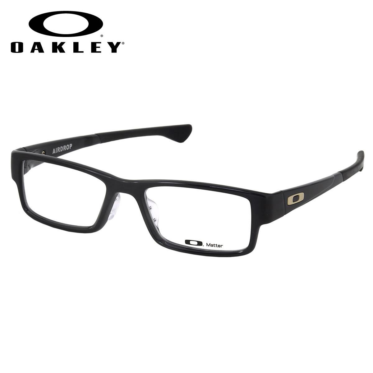 9dea5bd076 OAKLEY-glasses OX8065-0155 AIRDROP ASIA FIT Black Ink red Asian fit square  OAKLEY ITA eyeglass lens free men women