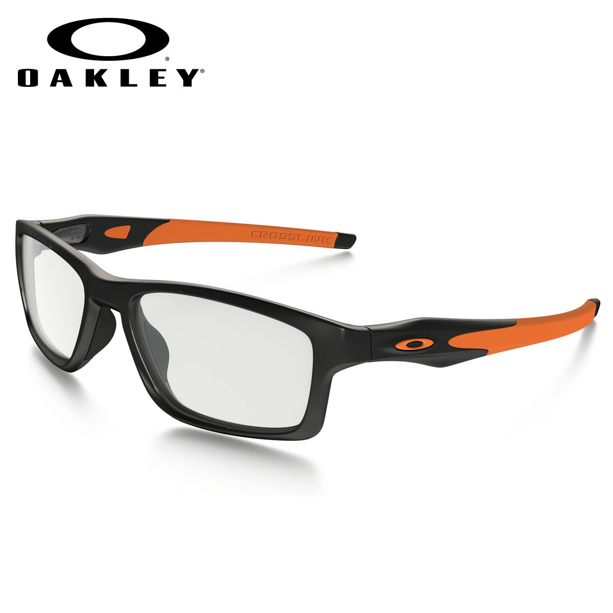 3f047b4ad7 -OAKLEY glasses OX8090-0155 CROSSLINK MNP Satin Black Team Orange  cross-linking MNP square OAKLEY ITA eyeglass lens free men women