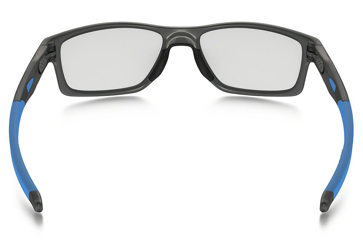 -OAKLEY glasses OX8090-0253 CROSSLINK MNP Satin Gray Smoke Sky Blue  Cross-linking MNP square OAKLEY ITA eyeglass lens free men women