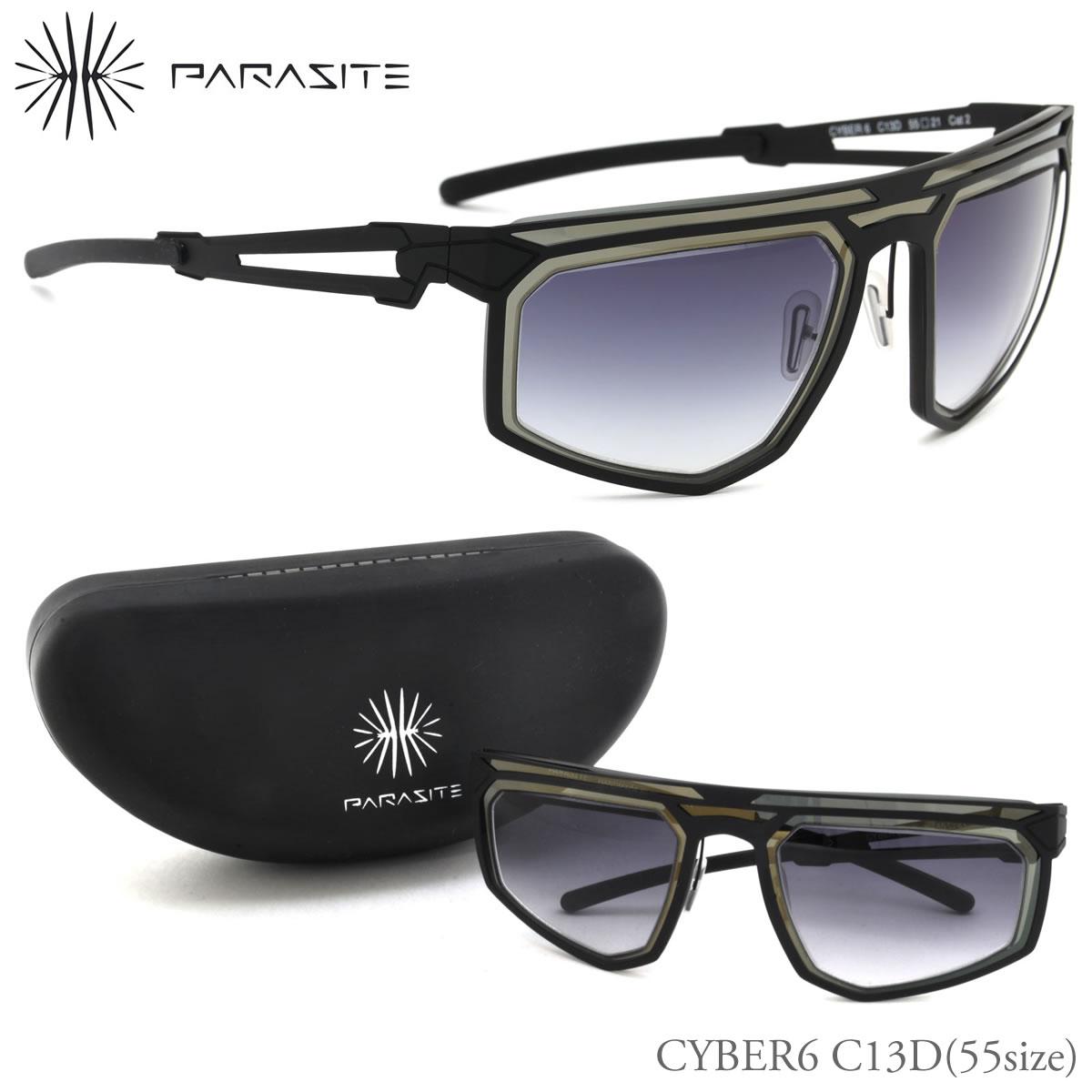 【10月30日からエントリーで全品ポイント20倍】【PARASITE】(パラサイト) サングラス CYBER6 C13D 55サイズ CYBER6 ミラー パラサイト PARASITE メンズ レディース
