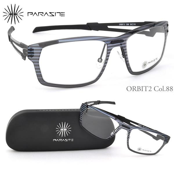 ほぼ全品ポイント15倍~20倍+15倍+2倍 【パラサイト メガネフレーム】PARASITE ORBIT 2 C88:顔に寄生するアイウェア!?