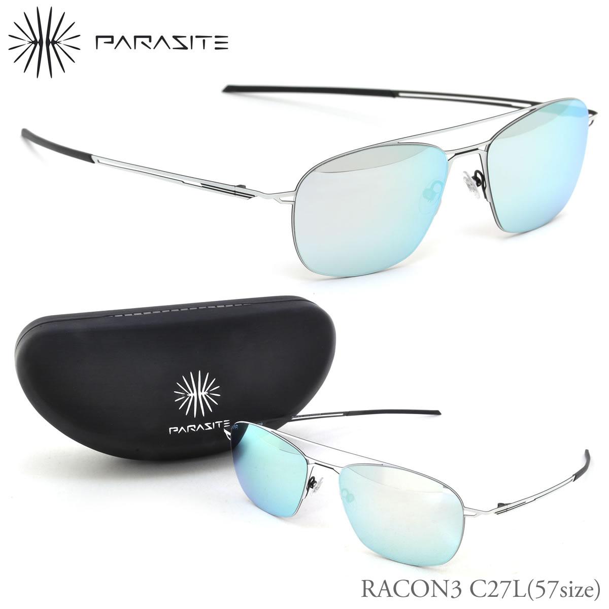 PARASITE パラサイト サングラス RACON3 C27L 57サイズ RACON3 ミラー パラサイト PARASITE メンズ レディース
