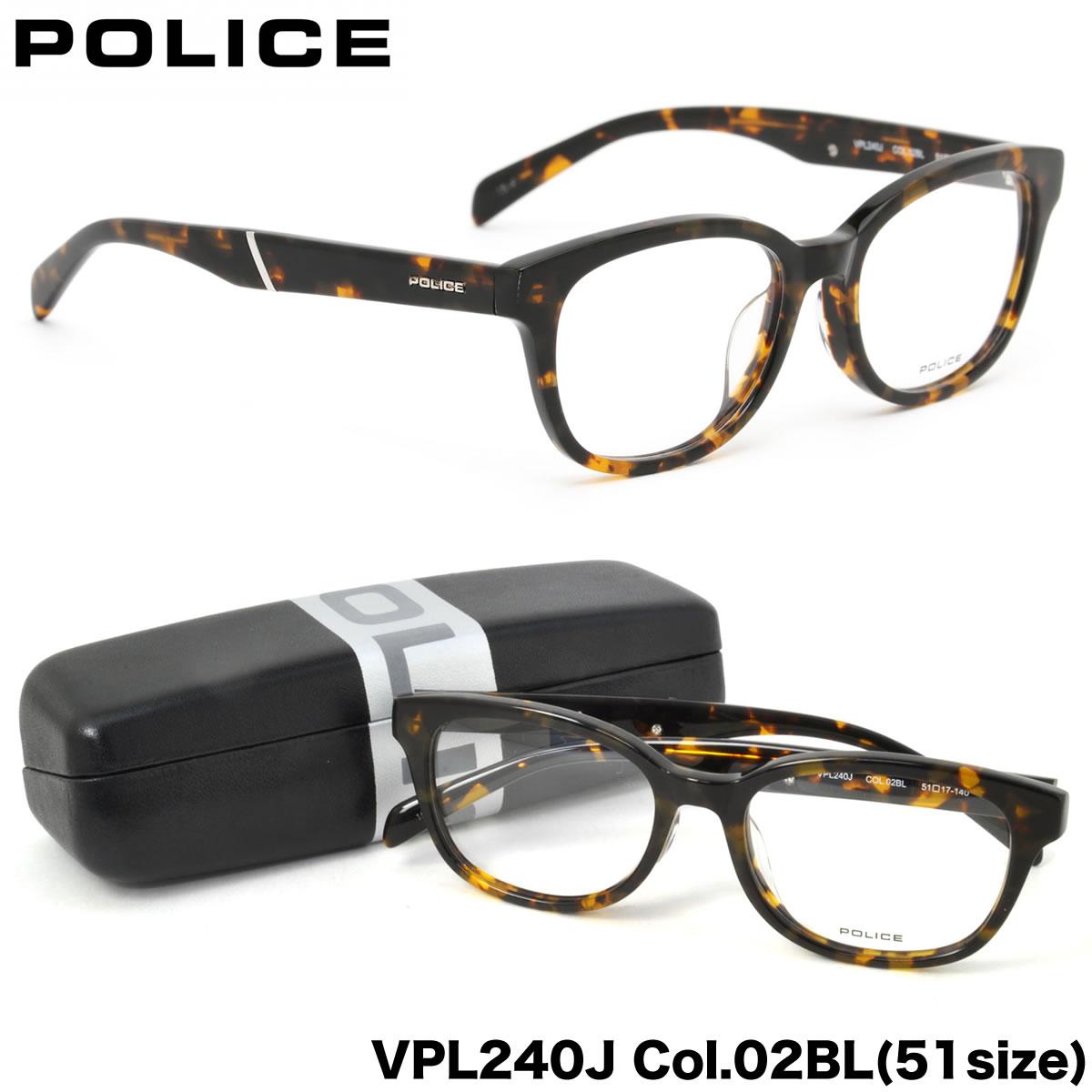 ポイント最大42倍!!お得なクーポンも !! 【POLICE】ポリス メガネ フレーム VPL240J 02BL 51サイズ ボストンポリス POLICE メンズ レディース
