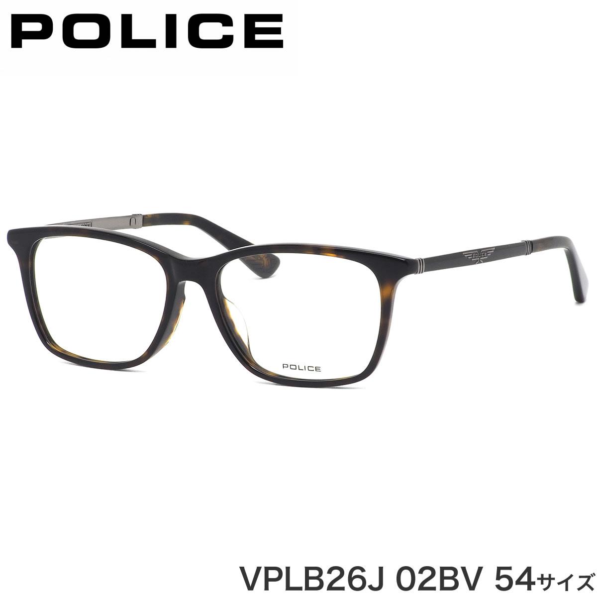 【海外 正規品】 ポリス トータス POLICE メガネ VPLB26J 02BV 54サイズ レディース コンビネーションフレーム べっ甲 メンズ デミ トータス かっこいい ウイング メンズ レディース, イワタグン:1db6d964 --- coursedive.com
