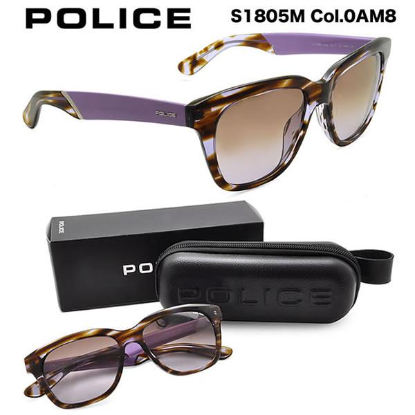 【10月30日からエントリーで全品ポイント20倍】【POLICE】ポリス サングラス S1805M 0AM8 54サイズ STEEL ポリス POLICE メンズ レディース