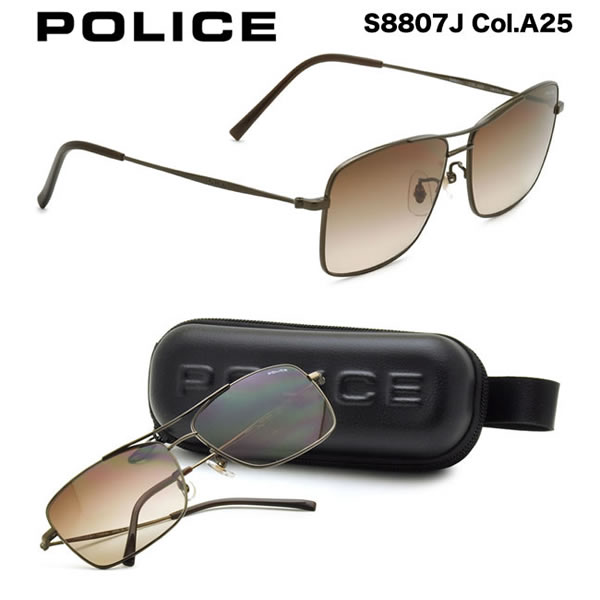 【10月30日からエントリーで全品ポイント20倍】【POLICE】ポリス サングラス S8807J A25 59サイズ ポリス POLICE メンズ レディース