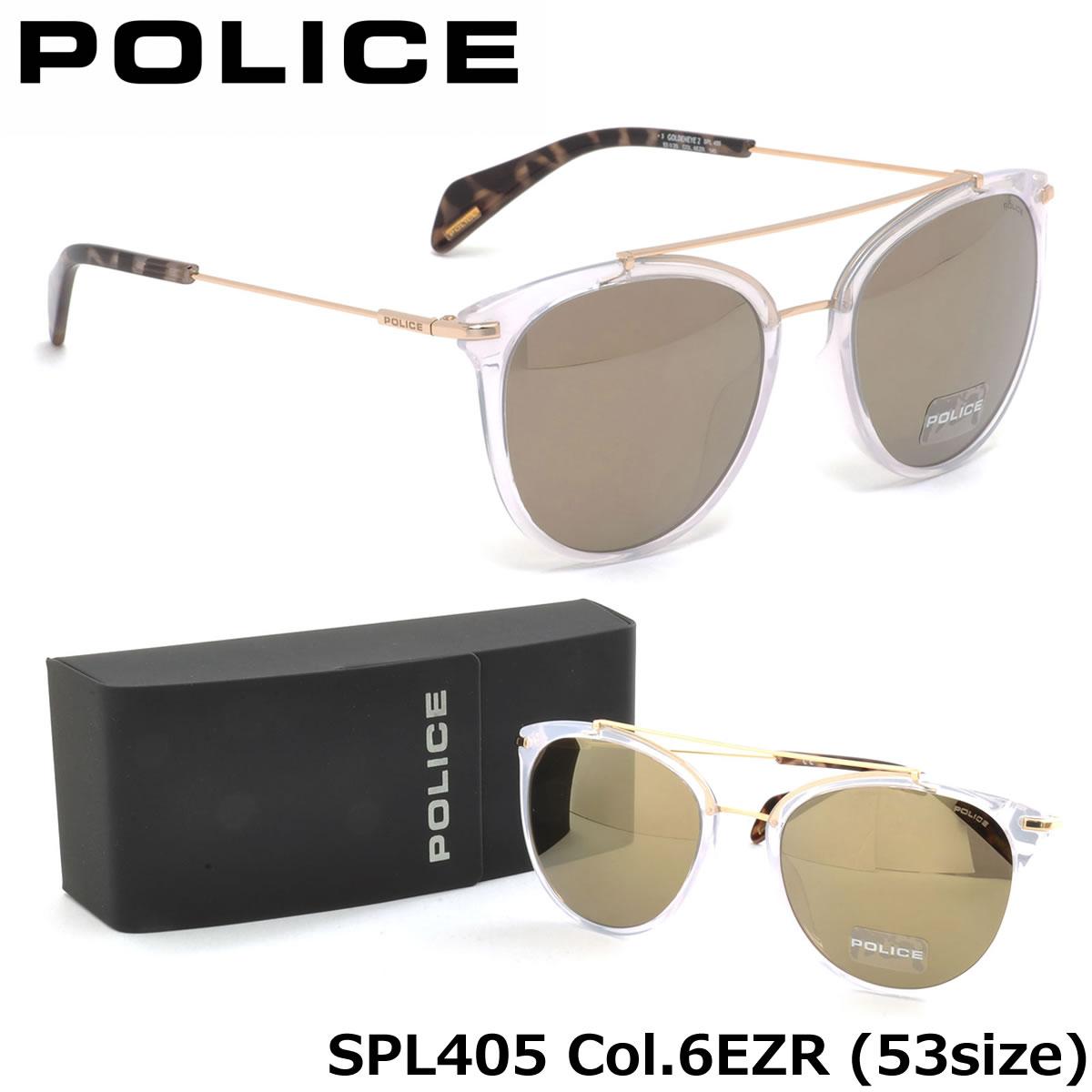 【10月30日からエントリーで全品ポイント20倍】【ポリス】 (POLICE) サングラスSPL405 6EZR 53サイズツーブリッジ POLICE メンズ レディース