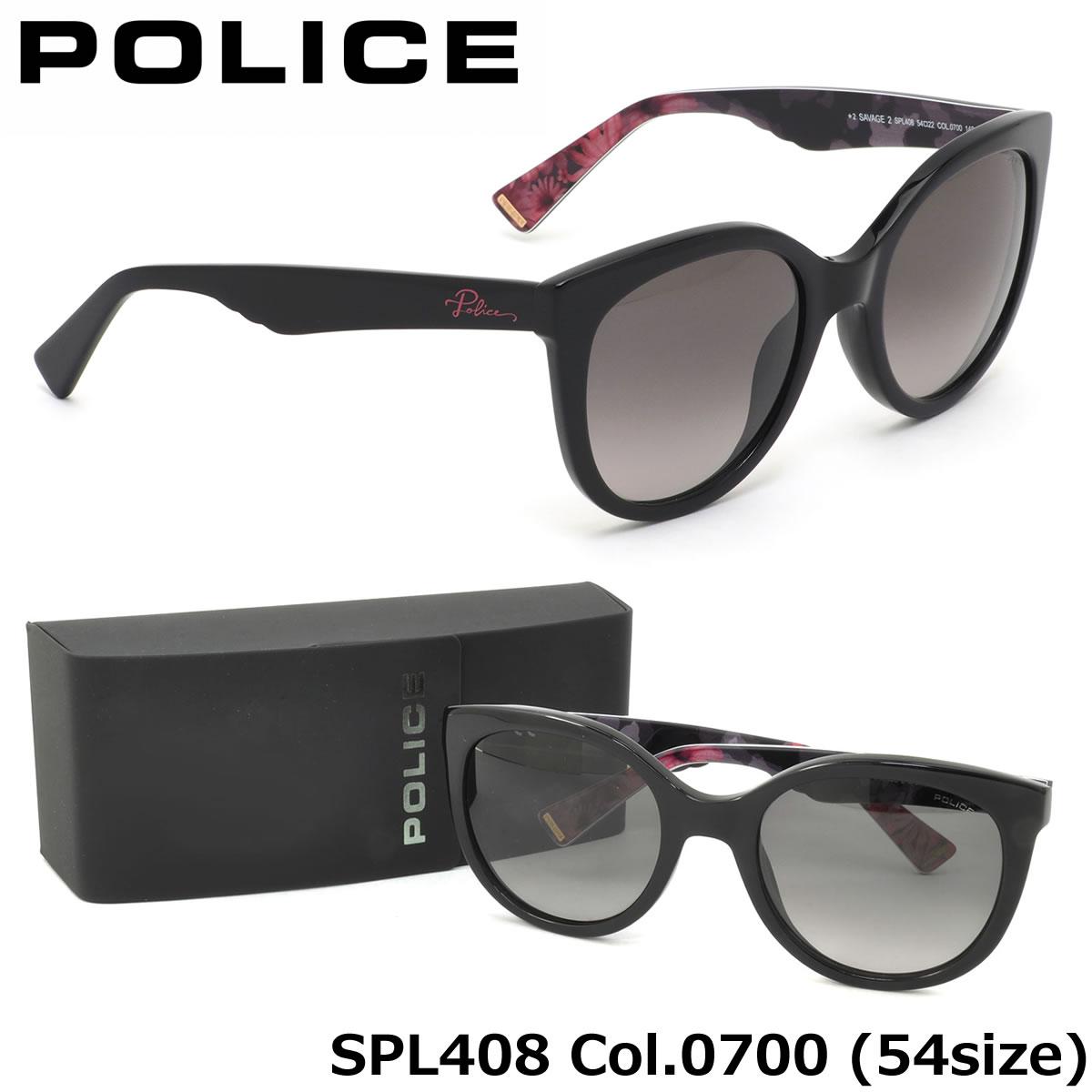 【10月30日からエントリーで全品ポイント20倍】【ポリス】 (POLICE) サングラスSPL408 0700 54サイズSAVAGE2 キャッツアイ ラウンドPOLICE メンズ レディース