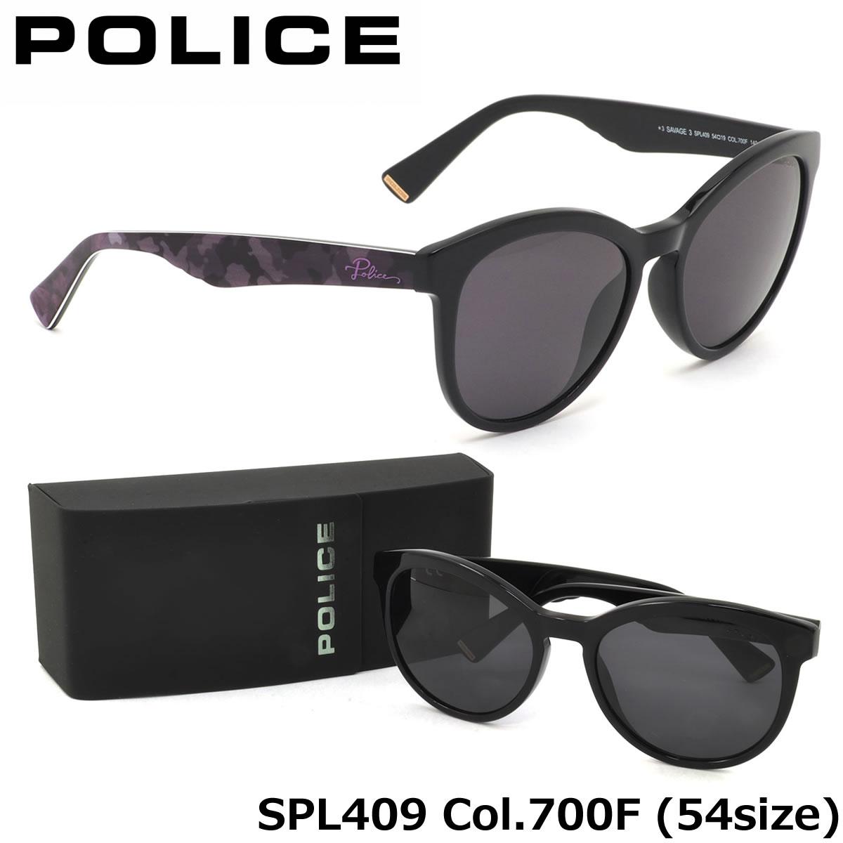 【10月30日からエントリーで全品ポイント20倍】【ポリス】 (POLICE) サングラスSPL409 700F 54サイズSAVAGE3 キャッツアイ ラウンドPOLICE メンズ レディース