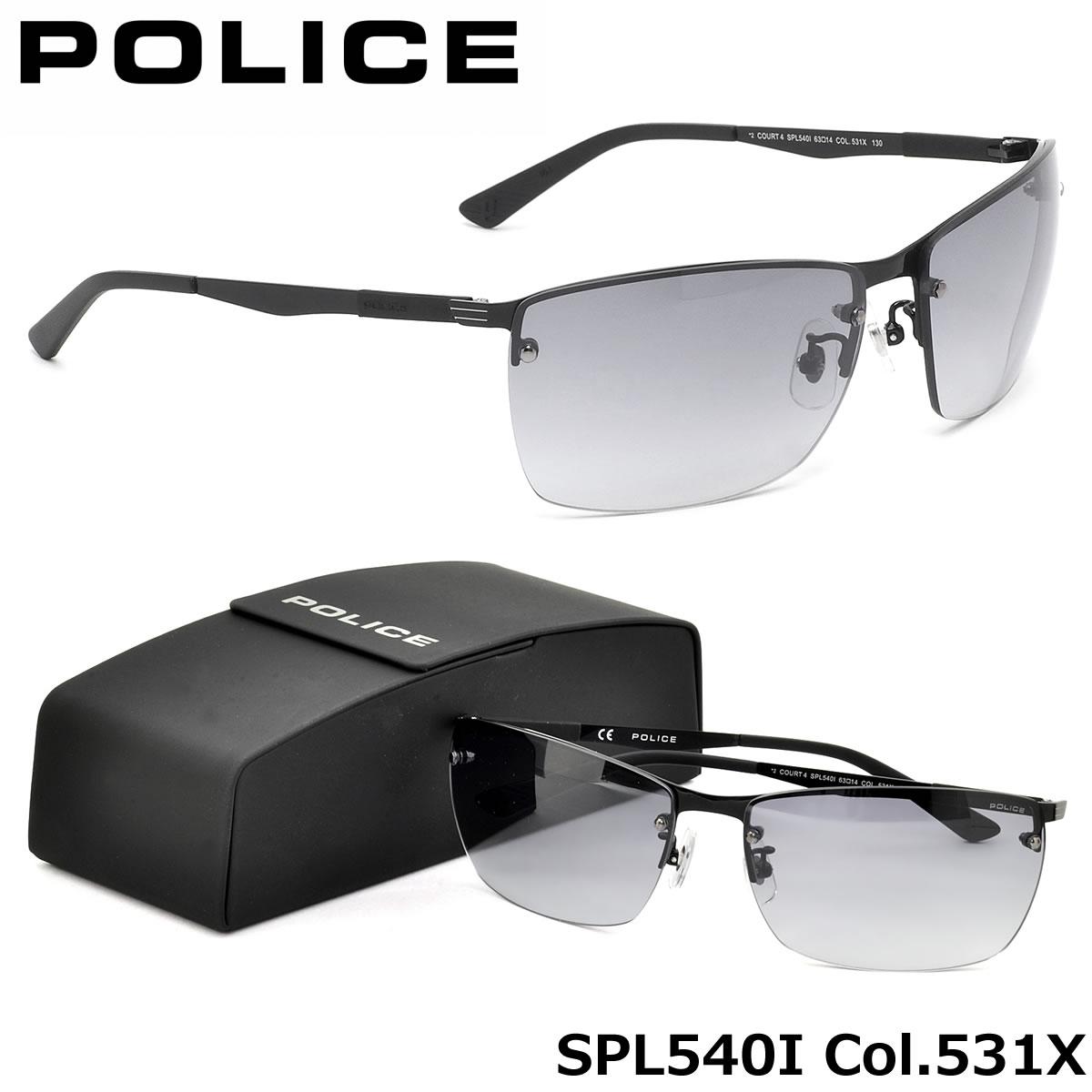 ポイント15倍~最大34倍+5倍 【ポリス】 (POLICE) サングラスSPL540I 531X 63サイズCOURT4 ツーポイント スクエアPOLICE メンズ レディース